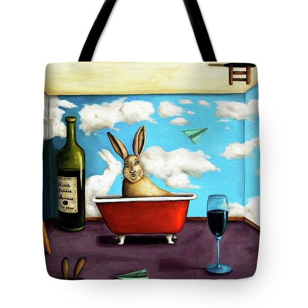 Little Rabbit Spirits Tote Bag by Leah Saulnier The Painting Maniac