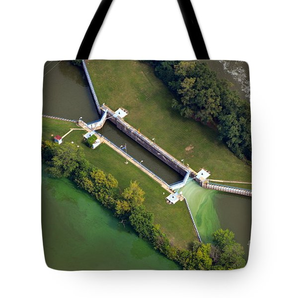 Tote Bag featuring the photograph Little Rapids Lock by Bill Lang