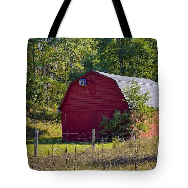 Tote Bag featuring the photograph Little Red Barn by Gary Hall