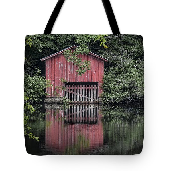 Little Red Boathouse Tote Bag