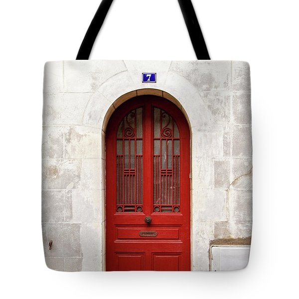 Tote Bag featuring the photograph Little Red Door by Melanie Alexandra Price