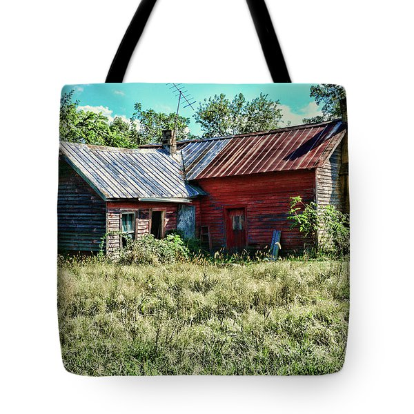 Little Red Farmhouse Tote Bag by Paul Ward