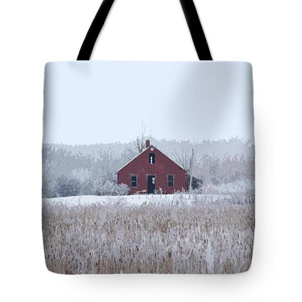 Little Red House Tote Bag by Ellery Russell