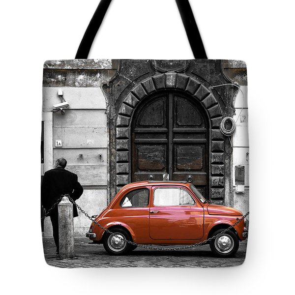 Little Red In Roma Fusion Tote Bag