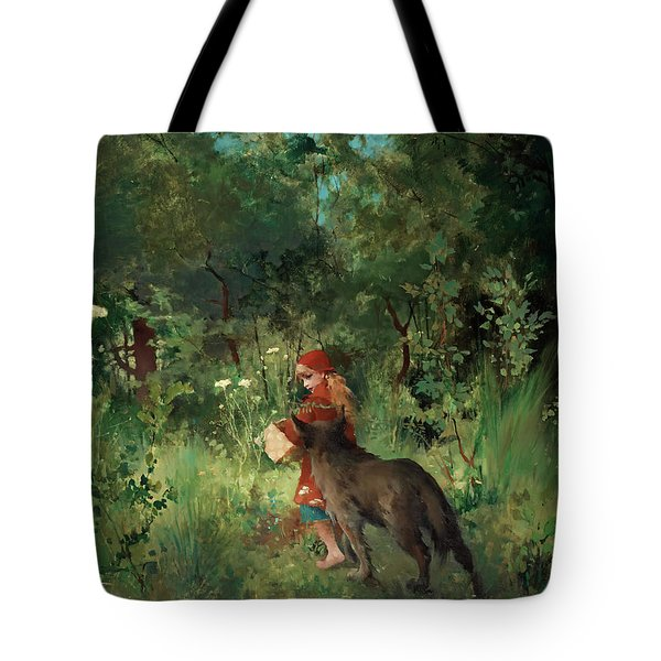 Little Red Riding Hood Tote Bag by Mountain Dreams