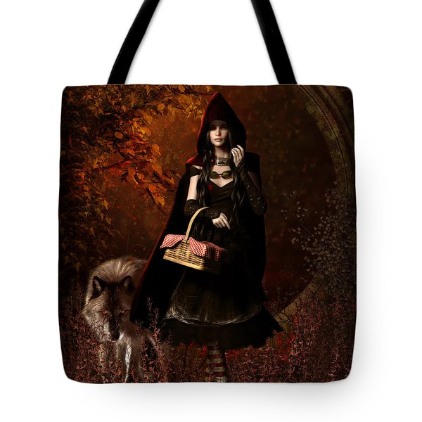 Little Red Riding Hood Gothic Tote Bag