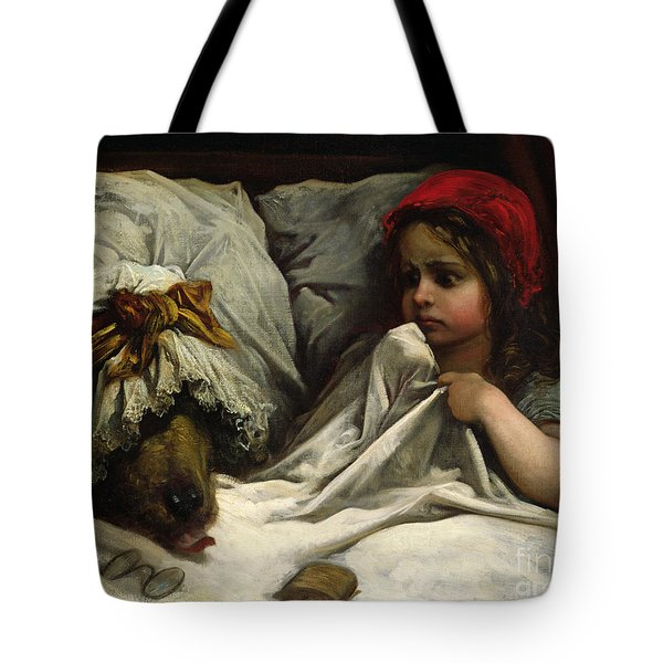 Little Red Riding Hood Tote Bag by Gustave Dore
