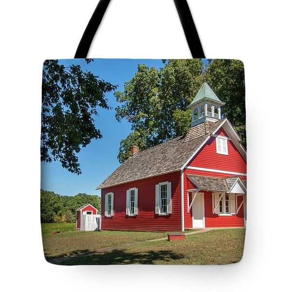 Tote Bag featuring the photograph Little Red School House by Charles Kraus