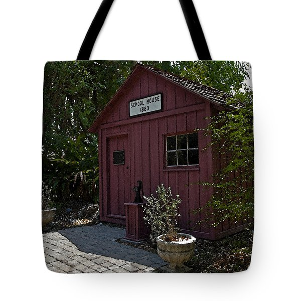 Little Red Schoolhouse Four Tote Bag by Allan  Hughes