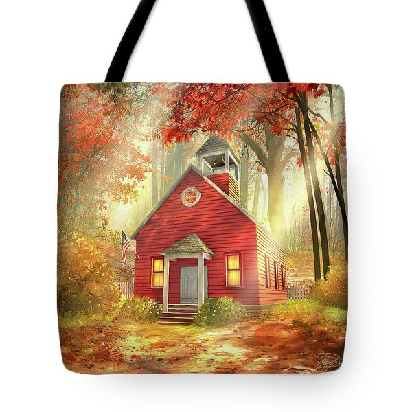Little Red Schoolhouse Tote Bag