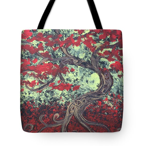 Little Red Tree Series 3 Tote Bag