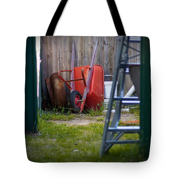 Tote Bag featuring the photograph Little Red Wagon by Tim Nichols