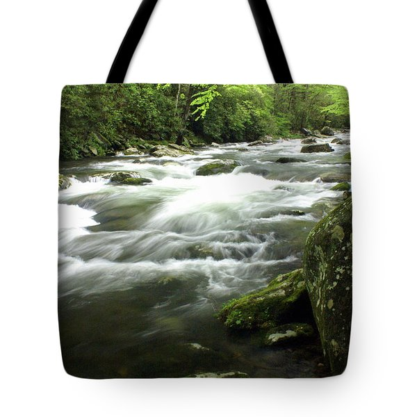 Little River 3 Tote Bag by Marty Koch