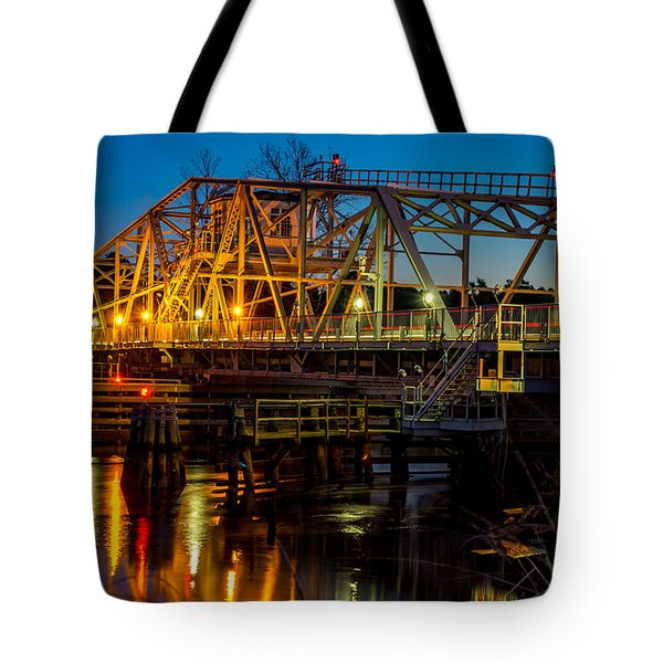 Little River Swing Bridge Tote Bag