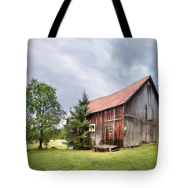 Tote Bag featuring the photograph Little Rustic Barn, Adirondacks by Gary Heller