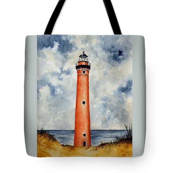 Little Sable Point Lighthouse Tote Bag by Michael Vigliotti