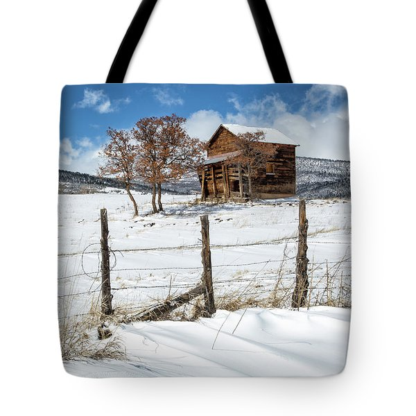 Little Shack In Winter Tote Bag