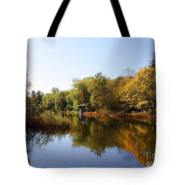 Little Shawme Pond In Sandwich Massachusetts Tote Bag