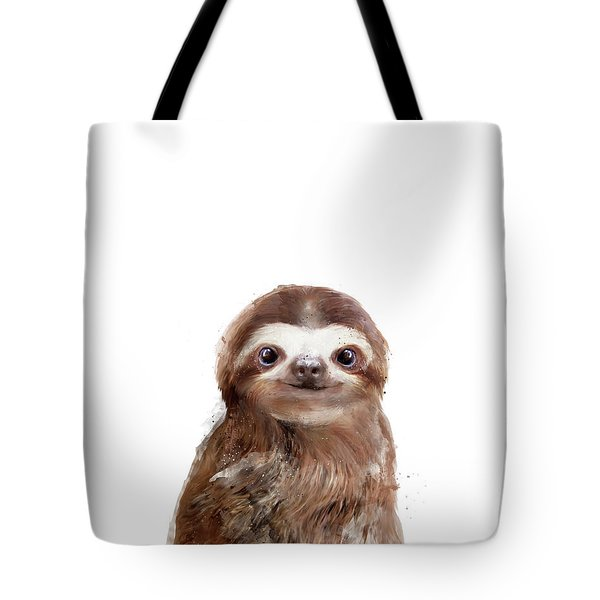 Little Sloth Tote Bag by Amy Hamilton