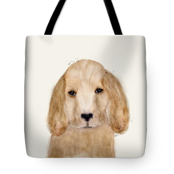 Tote Bag featuring the painting Little Spaniel by Bri B