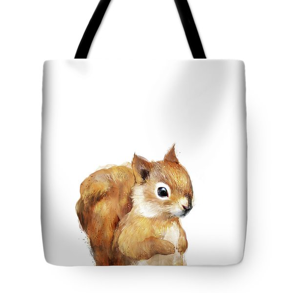 Little Squirrel Tote Bag by Amy Hamilton