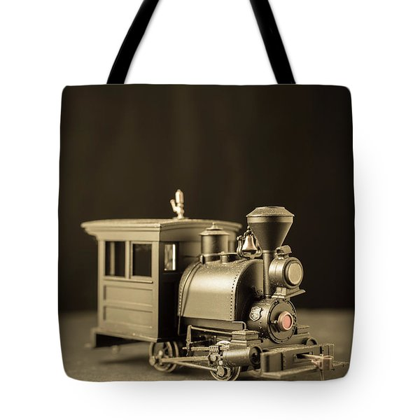 Tote Bag featuring the photograph Little Steam Locomotive by Edward Fielding