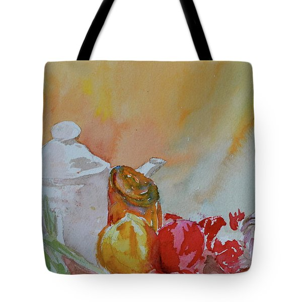 Tote Bag featuring the painting Little Still Life by Beverley Harper Tinsley