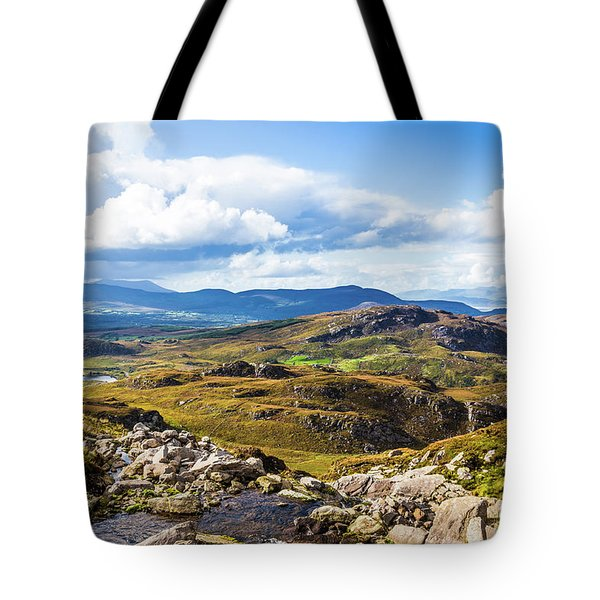 Tote Bag featuring the photograph Little Stream Running Down The Macgillycuddy's Reeks by Semmick Photo