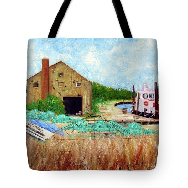 Little Toot Tug Boat Tote Bag