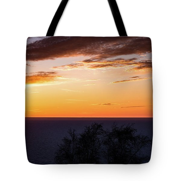 Tote Bag featuring the photograph Little Traverse Bay Sunset by Onyonet  Photo Studios