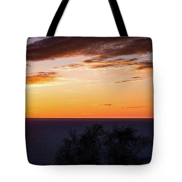 Little Traverse Bay Sunset Tote Bag by Onyonet  Photo Studios