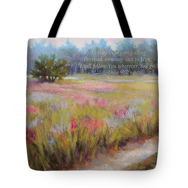 Little Tree Road With Verse Tote Bag