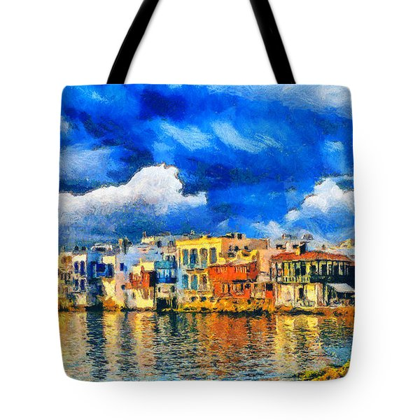 Little Venice Tote Bag by George Rossidis