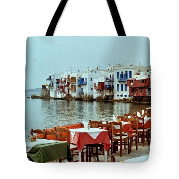 Tote Bag featuring the photograph Little Venice On Mykonos by Peter Mooyman