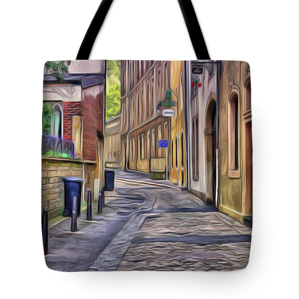 Tote Bag featuring the painting Little Village by Harry Warrick