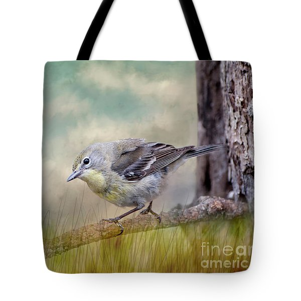 Tote Bag featuring the photograph Little Warbler In Louisiana Winter by Bonnie Barry