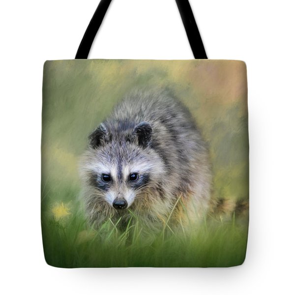 Little Wash Bear Raccoon Art Tote Bag by Jai Johnson