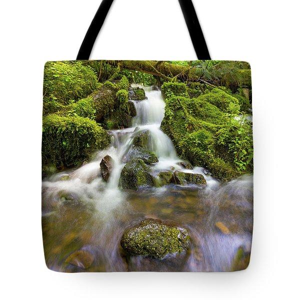 Little Waterfalls Along Wahkeena Creek Tote Bag