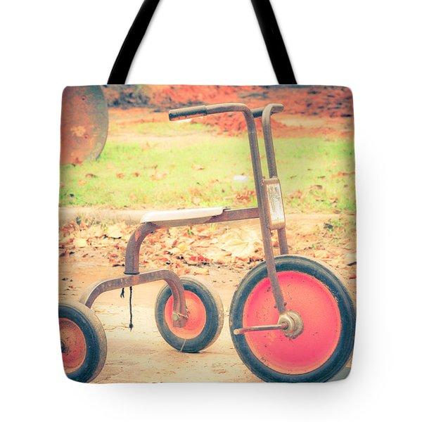Little Wheels Tote Bag by Toni Hopper