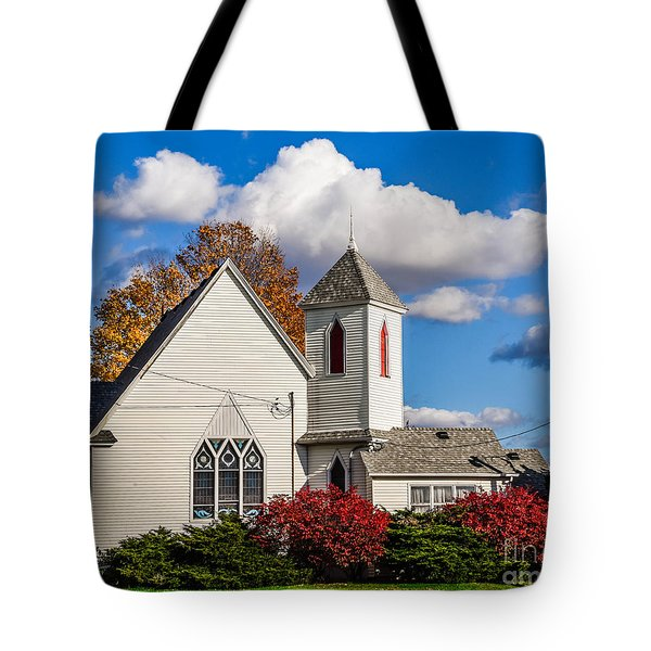 Little White Church Tote Bag