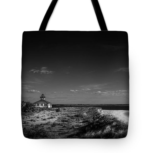 Little White Lighthouse Bw Tote Bag