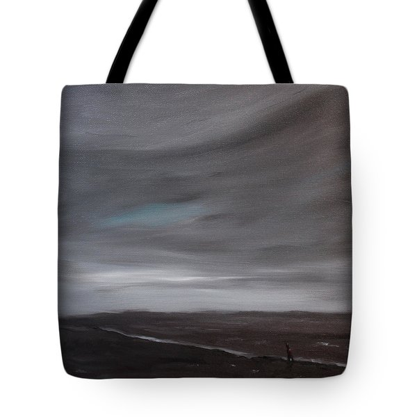 Little Woman In Large Landscape Tote Bag