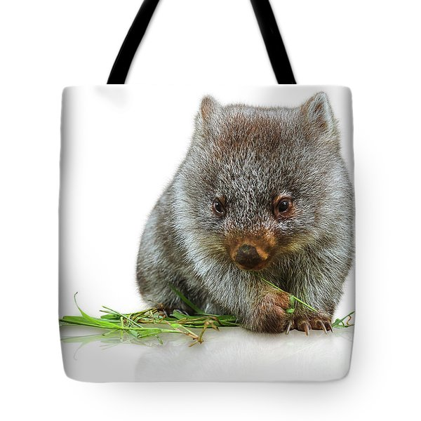 Tote Bag featuring the photograph Little Wombat by Benny Marty
