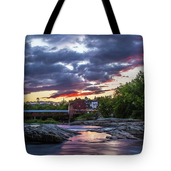 Littleton Sunset On The Rocks Tote Bag