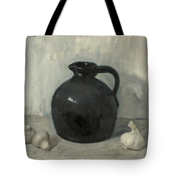 Little Brown Jug, Mushrooms And Garlic Tote Bag