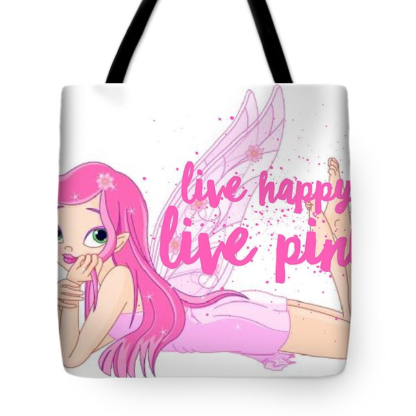 Live Happy Test Tote Bag