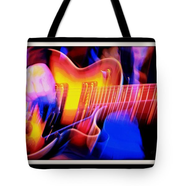 Tote Bag featuring the photograph Live Music by Chris Berry