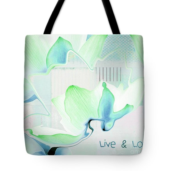 Tote Bag featuring the photograph Live N Love - Absf15 by Variance Collections