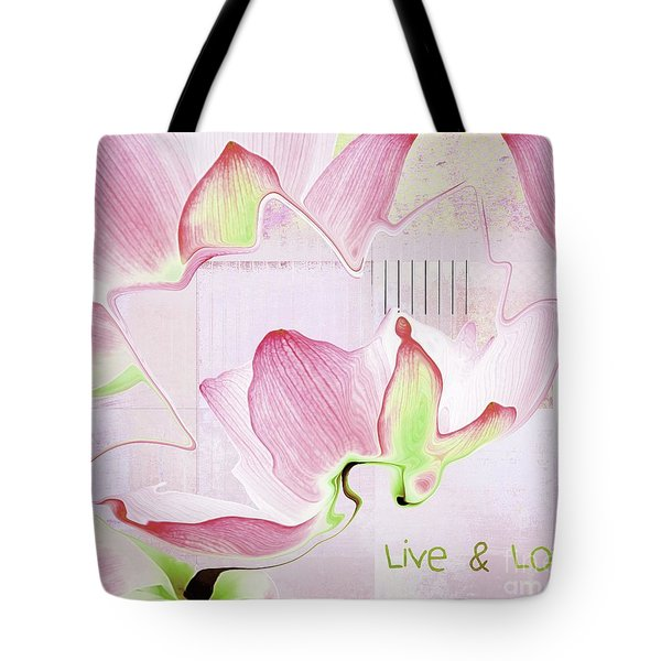 Tote Bag featuring the digital art Live N Love - Absf17 by Variance Collections