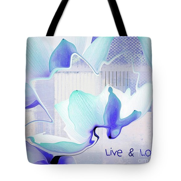 Tote Bag featuring the photograph Live N Love - Absf43 by Variance Collections
